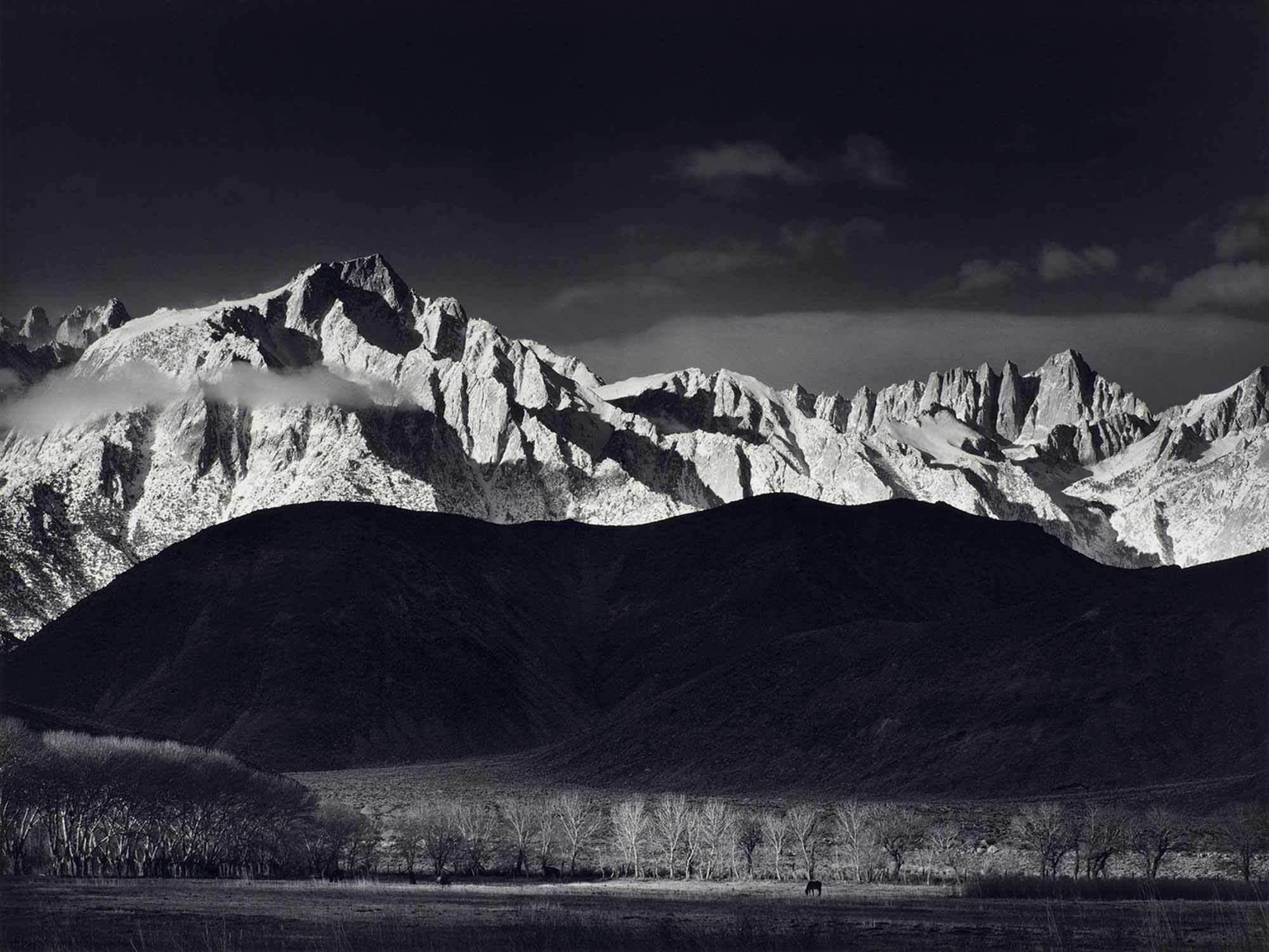 ansel-adams-Winter-Sunrise