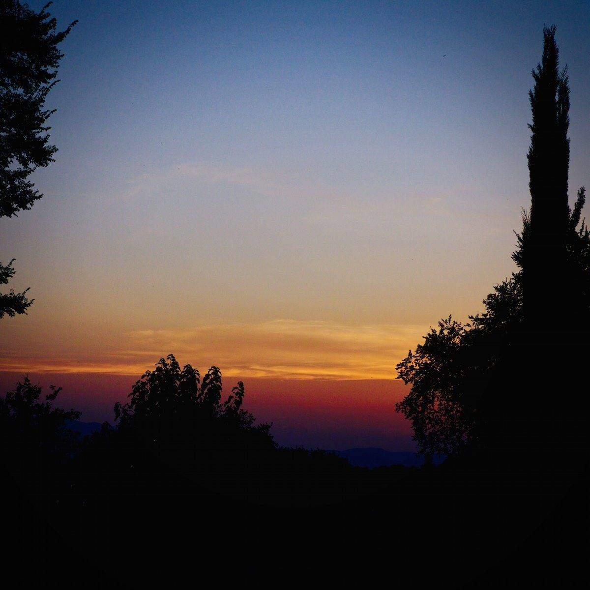 sunset - toscana