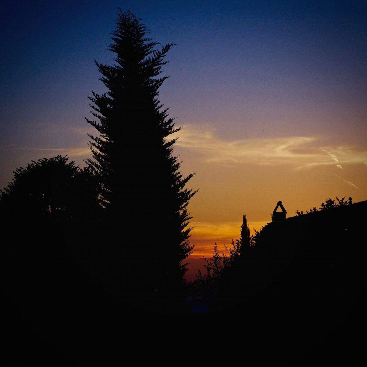 sunset toscana